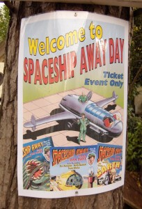 Spaceship Away Day Poster.