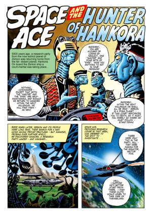 Ron Turner's Space Ace Volume 1: Copyright © 2012/13 The Ron Turner Estate
